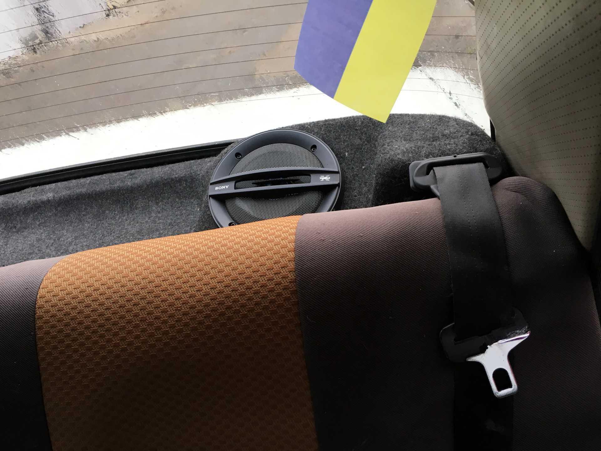 Крепление задних ремней безопасности ваз 2107