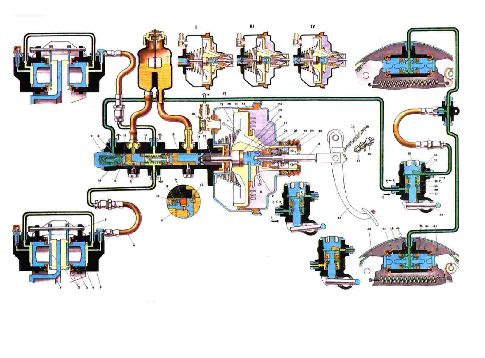 Разборка и сборка колесных цилиндров задних тормозов ваз 2107