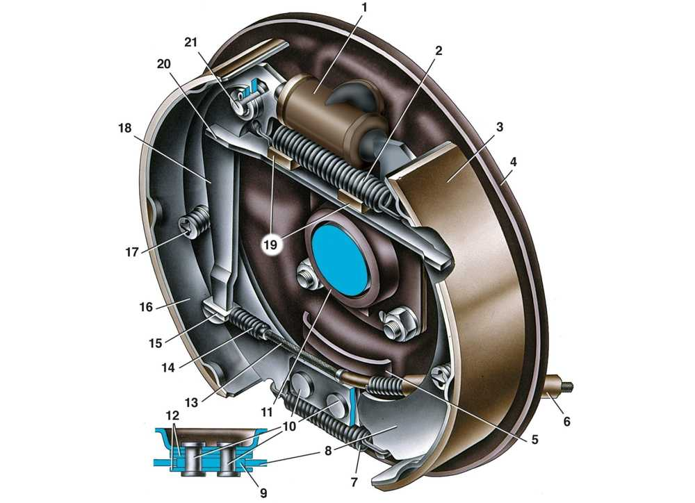 Ваз 2107 задние тормоза - снятие и разборка, сборка и установка